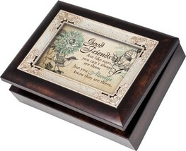 Cottage Garden Good Friends Burlwood With Silver Inlay Italian Style Mus... - $32.18