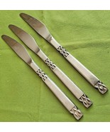 """Orleans Silver Stainless Victoria 3 Dinner Knives 8.5"""" Japan Satin Handle   - $12.86"""