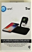 ONN 2-in-1 Wireless Charging Stand & Pad for Wireless Devices (Apple/Samsung)