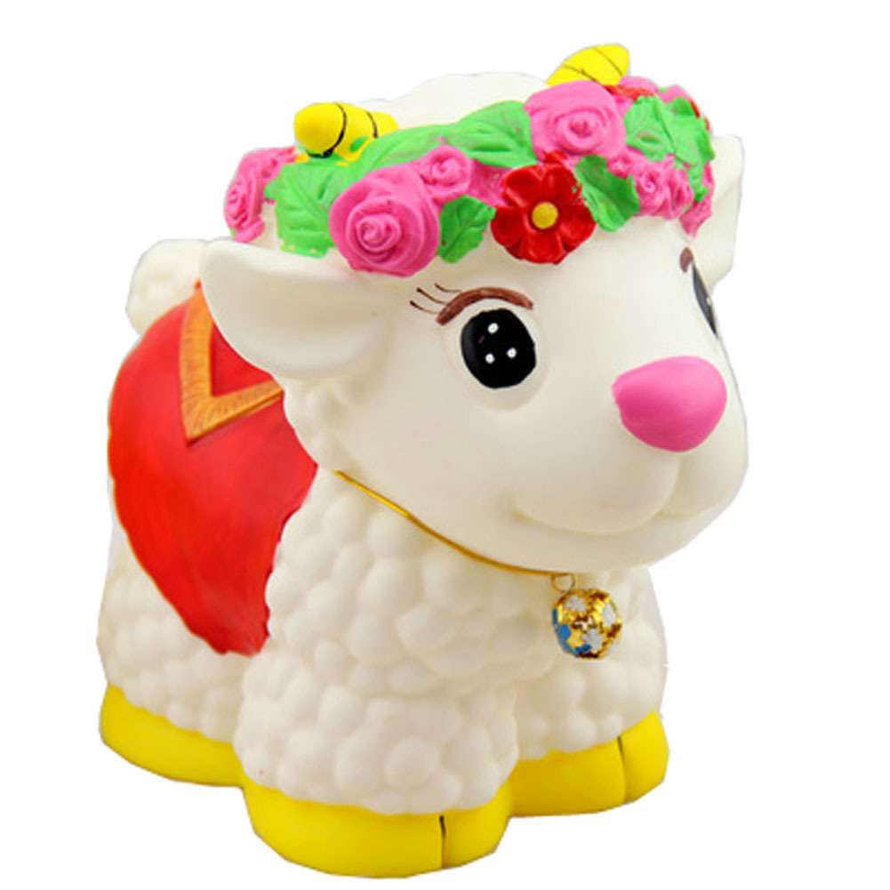 Yellow Lucky Sheep Coin Holder Piggy Bank Great Gift For