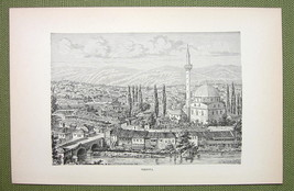 BULGARIA City of Tirnova Veliko Tarnovo - 1880s Antique Print - $13.05