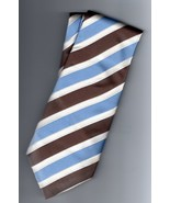 Donald J Trump Signature Collection Silk Blue Striped Mens Tie - $22.50