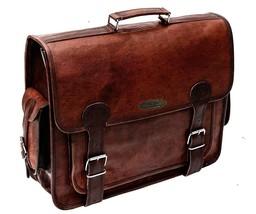 Men's Genuine Leather Messenger Shoulder Business Work Laptop Bag Handma... - $64.34