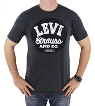NEW NWT LEVI'S MEN'S CLASSIC COTTON SHORT SLEEVE GRAPHIC T-SHIRT GRAY