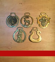Vintage 80s original Horse Brasses (Sets of 5) from England
