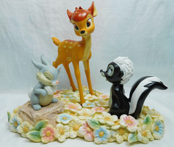 Extremely Rare! Walt Disney Bambi with Thumper and Flower Figurine Statue - $481.85