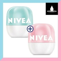 1+1 NIVEA Lip Balm POP BALL 7g Raspberry & Red Apple Fresh Mint Protects... - $14.50+