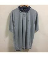 Ashworth Golf polo Shirt Men's Size Medium Stripe Made In USA S/S - $34.64