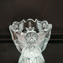 1 GORHAM ANGELS OF PEACE Crystal Frosted Votive Candle Holder image 2