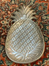 "IHI INDIA PEWTER PINEAPPLE FRUIT PLATE SERVING APPETIZER TRAY 11.5""  NEW - $24.99"