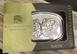 Wilton Armetale Butterfly Design Bread Tray in original Box 9x6.25 in. R... - $17.81