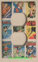 DC Superhero Comics USPS Stamps Light Switch Power wall Cover Plate Home decor image 2