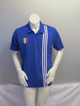 Team Italy Soccer Practice Jersey by Adidas - Triple Stripe - Men's Large - £42.02 GBP