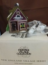 Dept 56 New England Village 1988 OTIS HAYES BUTCHER SHOP Cherry Lane Sho... - $19.95