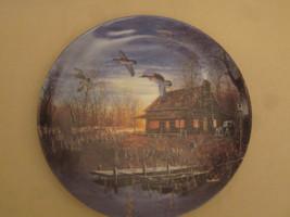 WOOD DUCK collector plate TWILIGHT FLIGHT Jim Hansel CABIN Waterfowl Wil... - $31.20