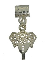 Celtic Elephant Memory Good health longevity Sterling Silver European Charm Bead - $16.83