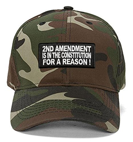 2nd Amendment is in The Constitution for A Reason! Hat - Camo Adjustable Cap