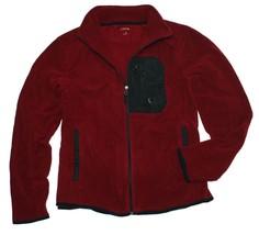 Calvin Klein Men's Full-zip Mockneck Fleece Jacket, Burgundy - $29.95
