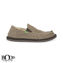 SANUK US CANVAS BROWN VAGABOND 8 NEW ON SHOES SURFERS SLIP SIDEWALK SIZE MEN'S rqCrYvxH