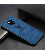 Classic Fabric Case For Huawei Mate 20 Soft Silicone Frame Back (Blue) - $17.99