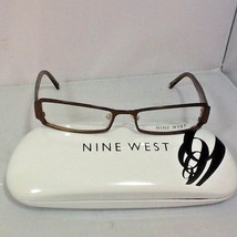 Nine West Women's Eyeglass Frames Hard Case Brown Metallic Glitter Legs New - $29.99