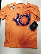 NIKE BOYS KEVIN DURANT TSHIRTS 4-7 YEARS (7 YEARS, BRIGHT ORANGE) - $19.59