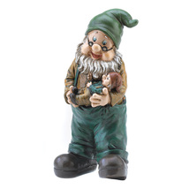 Gnome, Funny Garden Gnomes Statues, Outdoor Miniature Grandfatherly Gard... - $23.13