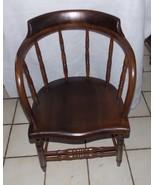 Walnut Firehouse Captains Chair / Armchair  (AC56)  (RP) - $299.00