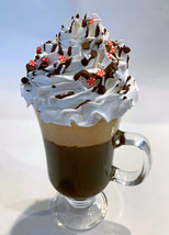 Fake Coffee Latte Chocolate Peppermint in Tall Irish Glass Parfait  - $29.69