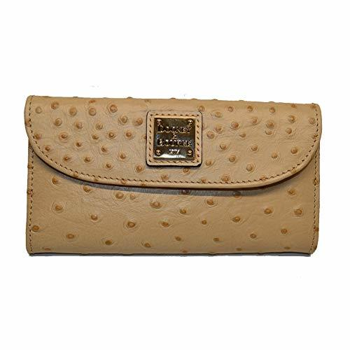 Dooney and Bourke Ostrich emb Continental Clutch Sand/Sand