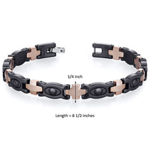 Men's Tungsten Ceramic Copper Tone Eyeball Link Bracelet image 4