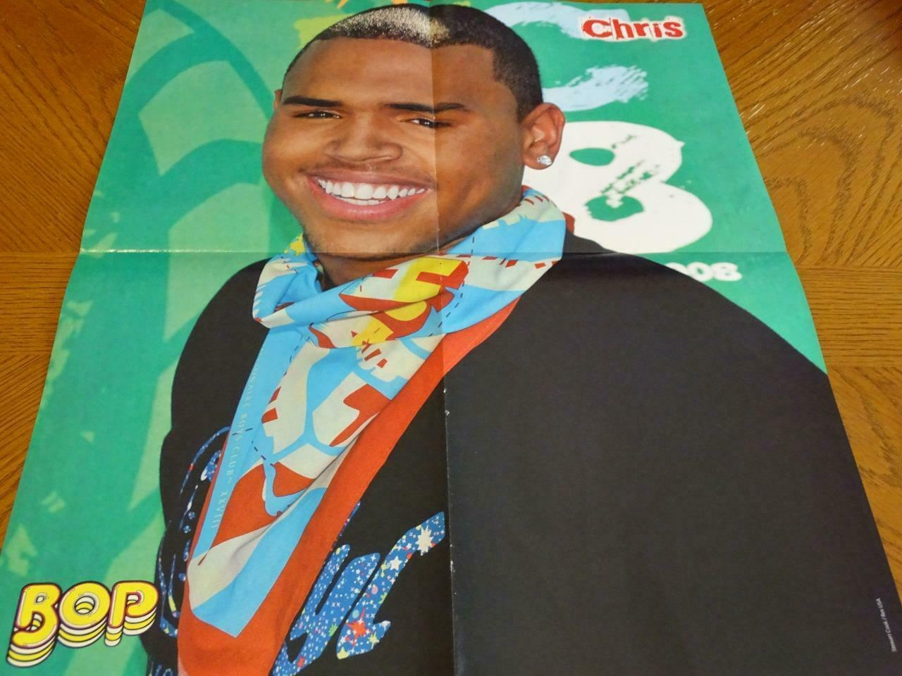 Primary image for Selena Gomez Chris Brown teen magazine poster clipping magic carpet Bop