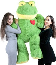 Giant Stuffed Frog 60 Inch Soft 5 Foot Plush Ape, Heart on Chest to Expr... - $127.11