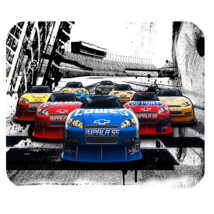 Mouse Pad Cars Starts Beautiful Racing Car In Competitions For Sports Editions - $9.00