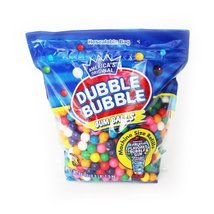 Dubble Bubble Gumball Refill 53 OZ Resealable Bag Home Grocery Product - $29.75