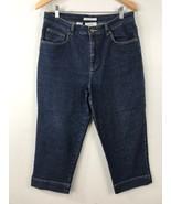 Jones Sport Womens Denim Capri Dark Blue Jeans Size 10 - $14.84