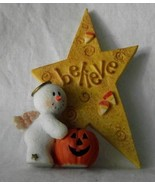 Sarahs Attic Snowonders Believe Courage Snowman Angel Halloween October ... - $12.86