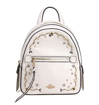 NWT COACH Andi Backpack Stardust Crystal Rivets Studs Chalk White Gold F... - $124.74