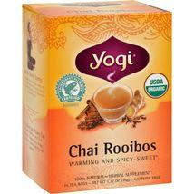 Yogi Organic Herbal Tea Caffeine Free Chai Rooibos - 16 Tea Bags - Case ... - $32.99