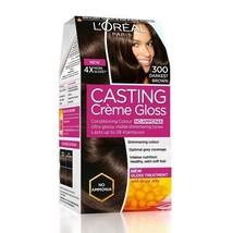 L'Oreal Paris Casting Creme Gloss, Darkest Brown 300, 87.5g+72ml*u.k - $23.98