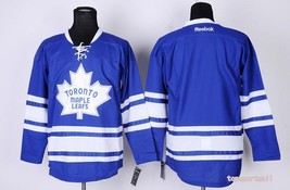 Swen Logo  Toronto Maple Leafs Blank Alternate Blue Ice Hockey Jerseys - $50.00