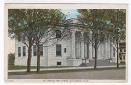 Post Office Big Rapids Michigan 1928 postcard - $4.46
