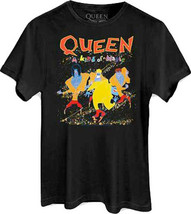 Queen-Freddie Mercury-A Kind Of Magic-Large Black T-shirt - $21.28