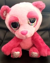 Russ Lil Peepers TIFFANY Pink Panda Plush Big Eyes Sparkle Bling Stars 8... - $13.00