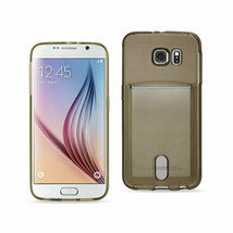 New REIKO SAMSUNG GALAXY S6REIKO SEMI CLEAR CASE WITH CARD HOLDER IN CLE... - $7.29