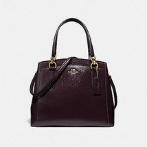 Coach Minetta Crossbody Handbag Oxblood Crossgrain Leather   - $155.00