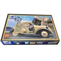 BRONCO BRO3150 1:35 Italian Small Car & Female & Dog Plastic Model - $95.06