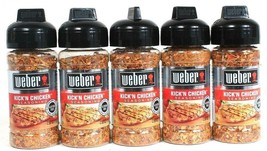 5 Weber 2.5oz Kick'N Chicken Gluten Free No MSG Heat & Flavor Seasoning ... - $25.99