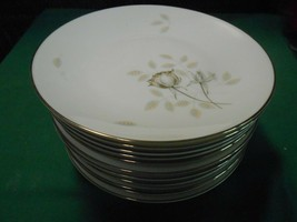 "Magnificent ROSENTHAL Germany PEACH BROWN-GRAY ROSE . Set 12 BREAD 7.5"" - $78.79"