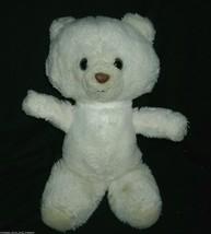 """12"""" VINTAGE WHITE TEDDY BEAR ANIMAL FAIR STUFFED PLUSH TOY OLD BROWN NOS... - $23.38"""